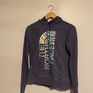 Women's North Face Hoodie with Animal Print